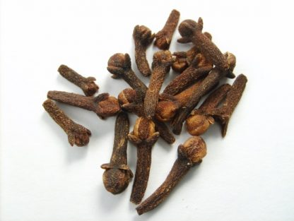 Dried whole cloves.