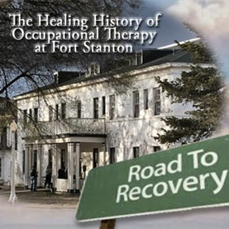 The Healing History of Occupational Therapy at Fort Stanton. Road to Recovery. Large historic white building with many windows.